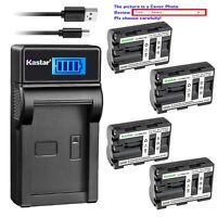 Kastar Battery LCD Charger for Sony NP-FM500H & Sony DSLR-A100 Alpha A100 ¦Á100