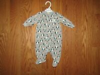 Carter/'s Baby One Piece Polyester Fleece Aqua Blanket Sleeper Size 3 Months NWT