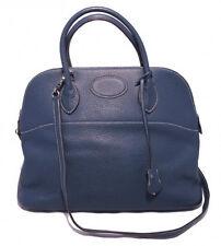 HERMES Mykonos Blue Clemence Bolide Bag
