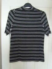 BRAND NEW WITH TAG ~ NAVY & WHITE CASUAL OR WORK STRIPED TOP ~ SIZE 16 ~  BBW ~