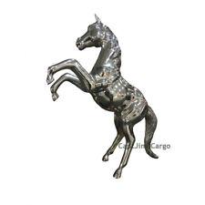 "Large Rearing Horse Statue Figurine 35"" Decorative Chrome Metal Home Decor New"