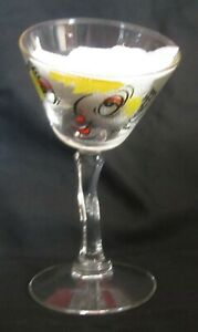 Gay Fad Bent Martini Glass with Comical Face