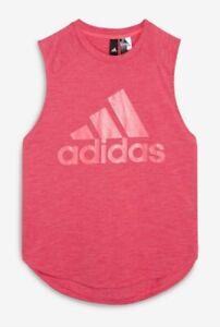 Adidas Pink Vest, Size S (8-10)
