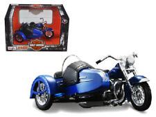 Maisto 1/18 1952 Harley Davidson FL Hydra Glide with side Car Black Blue (03175)
