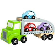 JaBaDaBaDo Auto Autotransporter Holz Spielzeug mit 3 kleinen Autos Mehrfarbig