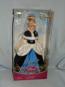 """Disney Store Princess Cinderella Doll Royal Collection 12"""" New in Box Blue Gown"""