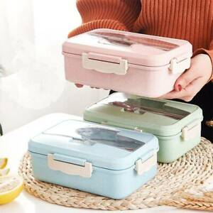 3 Fächer Brotdose Brotbox Kindergarten Frühstücksdose Schule Lunchbox 3 Farben