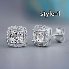Cubic Zirconia Women Jewelry 925 Silver,Rose Gold,Gold Stud Earrings A Pair/set
