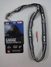 2014 Indianapolis 500 Garage Badge Pass Credential & Lanyard Ryan Hunter-Reay