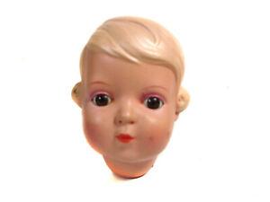 """Vintage celluloid doll head """"Inge"""", size 41, turtle mark, Schildkröt"""