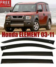 For Honda Element 2003-2011 Window Smoke Visor Rain Sun Guard Deflectors Kit
