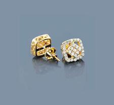 Aretes De Oro Amarillos 585 Diamantes Brillantes 0,61 Quilates Pendientes Nuevo