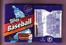 6 Packs X 15 Cards 1993 Topps Major League Baseball Series 1 Gold Card in Each