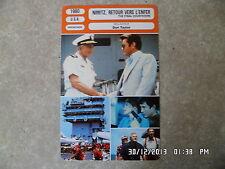 CARTE FICHE CINEMA 1980 NIMITZ RETOUR VERS L'ENFER Kirk Douglas Martin Sheen