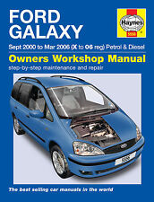 Haynes FORD GALAXY 2000-2006 2.3 Benzina & 1,9 TD DIESEL MANUALE 5556 NUOVO