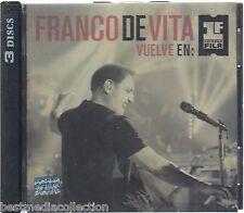 DELUXE 2 CD's + 1 DVD - Franco De Vita CD NEW Vuelve En Primera Fila 3 Discs Set