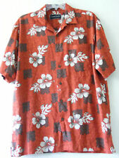 OCEAN PACIFIC - Mens  S/S Tropical Rust Red Shirt L