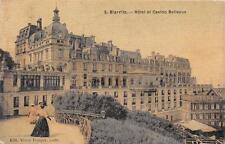 CPA 64 BIARRITZ HOTEL ET CASINO BELLEVUE (cpa toilée émaillée