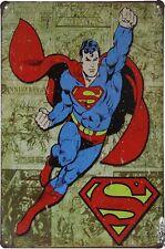 Marvel Superman comic hero Tin Sign metal poster bar pub home wall decor