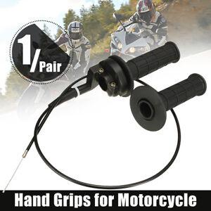 22mm Twist Throttle Housing Hand Grip & Cable 110cc 125cc ATV Quad Dirt Pit Bike