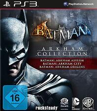 SONY PS3 Batman: Arkham Collection Origins (Disc) + Asylum + City als Download ?