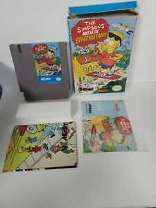 The Simpsons: Bart vs. The Space Mutants TESTED POSTER+MANUAL+BOX NES