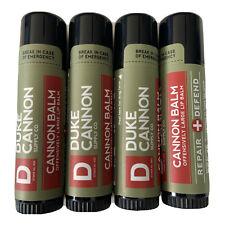 Duke Cannon Balm Tactical Lip Protectant .56 oz Men's Chapstick 4 PACK