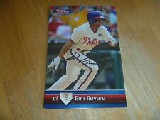 Ben Revere Signed/Auto Phillies Team Set Card