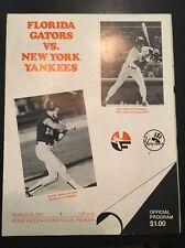 1987 NEW YORK YANKEES vs. UNIVERSITY OF FLORIDA GATORS Program Spring Exhibition