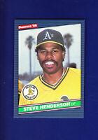 Steve Henderson 1986 Donruss Baseball #375 (MINT) Oakland Athletics