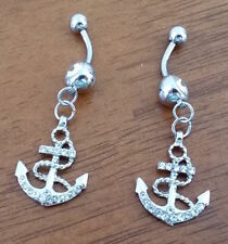 Cubic Zirconia Silver Plated Body Piercing Jewellery
