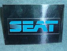Sammelsticker Nr. 207 Bild Sticker Auto 2000 Seat Emblem Glitzer Panini 1985