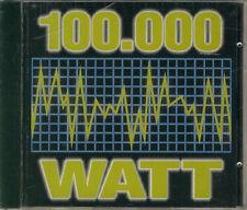 """"""" 100.000 Watt Compilation """"CD ITALO Dance Techno Progressive Trance 1996"""