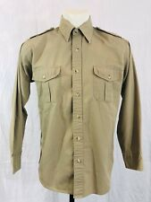 Cabelas Hunting Outdoor Shirt Button Up Mens Medium Long Sleeved Epaulettes Tan