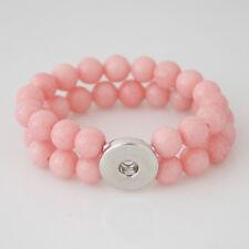 Neu Hochwertiges Mashan Jade Armband Armreif für 18/20mm Cunks Perlen Pink