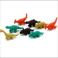 8x Mini Dinosaur Eggs Pencil Rubber Erasers Students Stationery Kids V8N6