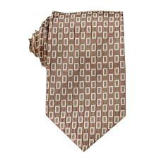 Light Brown Checked 3.4'' 100%Silk Jacquard Classic Woven Man's Tie Necktie FS78