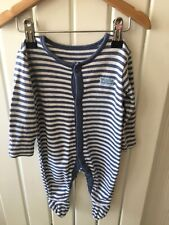 Baby Boy's Clothes 0-3 Months - Disney's Winnie The Pooh Striped Sleepsuit