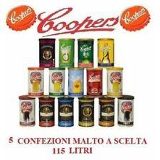 N° 2 CONFEZIONI DI MALTO PREPARATO PER KIT BIRRA COOPERS 3,6KG46 LT A SCELTA