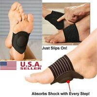 1 Pair Foot Support Cushioned Arch Brace Helps Decrease Plantar Fasciitis Pain