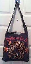 Beauty & The Beast La Belle et La Bete Crest Tote Black Disney Adjustable Strap