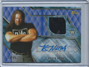 2017 Topps WWE OF Legends Kevin Nash Auto Relic Shirt 12/25 NWO HOF