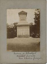 Russie Sebastopol Dans cimetière français Vintage Amateur Albumine ca. 1900