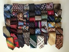 Men's Neck Ties Lot 54 Crafts Quilting Wear Silk Polyester Paisley