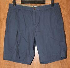 Womens Dark Blue Natural Reflections Flat Front Bermuda Shorts Size 6 very good