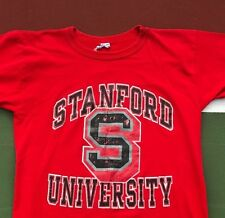 New listing 1980's Destroyed Vintage Stanford University Champion T-Shirt Large Red Usa