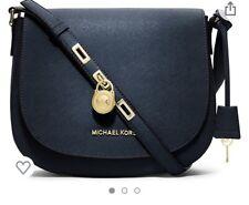Michael Kors Hamilton Large Messenger Bag Navy