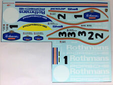 2pcs 1/24 Porsche Le mans 956 962 Rothmans Fill in decal for diecast Minchamps