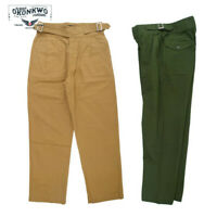Vintage Gurkha Pants UK Army Bermuda Mens Casual Trousers Khaki Loose Fit Pants
