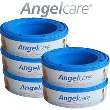 5 x Angelcare Nappy Disposal System Refill Cassettes Wrappers Bags Sacks Pack